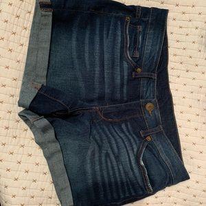 Classic blue jean shorts